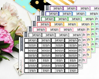 Blank Multi-Colored Date Covers |  for use with Erin Condren Lifeplanner™, Filofax, Personal, A5, Happy Planner