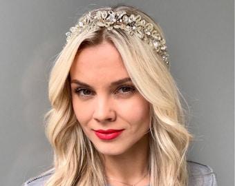 Bridal hair vine wedding hair vine bridal crown bridal headpiece wedding hair wreath crystal hair vine wedding crown bridal crystal tiara