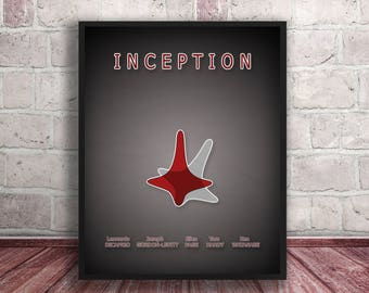 Inception poster print,Inception the movie print,Printable file,Home decor,Minimal movie poster,Minimal art,Instant Download,Digital art