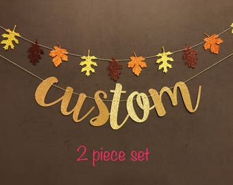 fall in love banner, fall banners, custom banners, Halloween banners, party banners, candy corn banners, halloween decorations