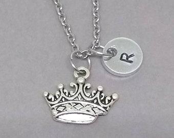 Crown Necklace, Tiara Necklace, Princess Necklace, Crown Charm, Tiara Charm, Charm Necklace, Custom Necklace, Best Friend Necklace