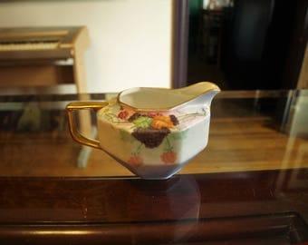Vintage Hand Painted Porcelain Creamer marked Virginia Phillips Bihl – Z.S. and Co Bavaria