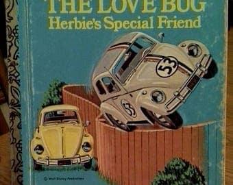 Little Golden Book, Walt Disney's The Love Bug Herbie's Special Friend,#D130, 1st Edition
