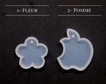 Mold silicone - Fleur - Apple - with hole
