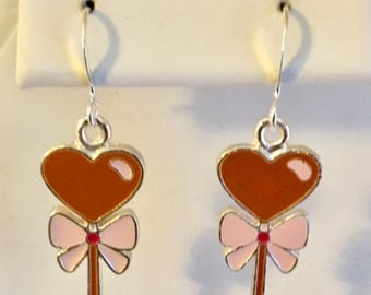 Heart Lollipop Sweet Earrings