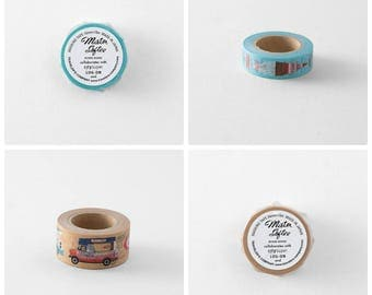 Mister Softee x Traveler's Factory collaboration Masking Tapes set Limited Log-On Hong Kong TRAVELER'S COMPANY Rare Made in Japan
