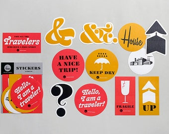 House Industries x Traveler's Factory collaboration Sticker Set 07100618 Limited TRAVELER'S COMPANY Rare Made in Japan