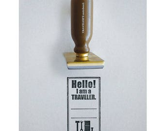 Traveler's Notebook  Hello! Stamp 07100115 Designphil  Traveler's Factory Midori Gift Free shipping from Japan