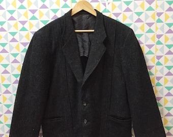 Comme Des Garcons Homme Wool Blazer Jacket / yohji yamamoto / issey miyake / kansai yamamoto / japanese designer