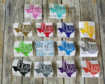 Texas Strong Hurricane Harvey Decal for Donations, Texas Decal, Hurricane Relief Decal, Texas Strong Decal