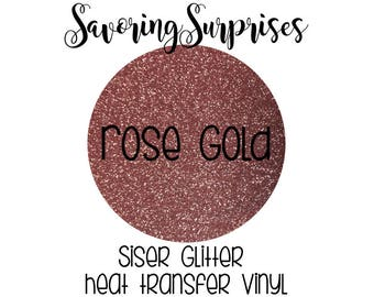 Rose Gold Glitter / Glitter Heat Transfer / Rose Gold HTV / Rose Gold Siser / Rose Gold Vinyl / Siser Glitter / Heat Transfer Vinyl