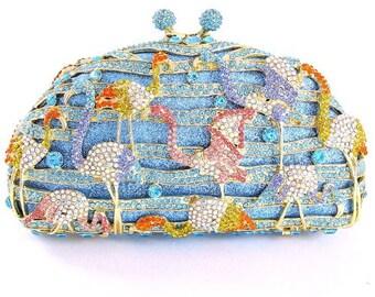Pelican Crystal Clutch Bag