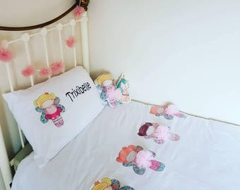 fairy bed set personalised