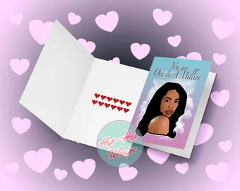 Aaliyah R&B A5 Valentine's Day/ Occasions card