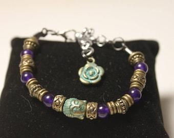 trendy boho beaded bracelet Tibetan style