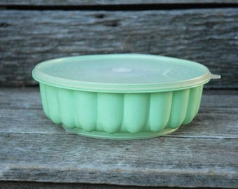 Tupperware Green Jello Mold, Jadelite Green, , Mint Green tupperware