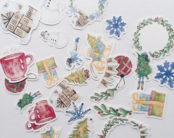 Watercolour Christmas Ephemera
