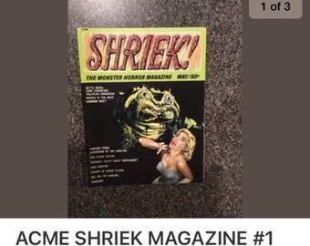 Acme Shriek magazine no. 1 1960's