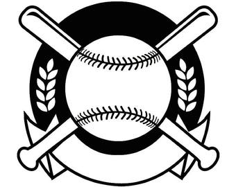 Baseball Logo #15 Tournament Ball Bat Glove Diamond League Equipment Team Game Field Sports Logo .SVG .EPS .PNG Vector Cricut Cut Cutting
