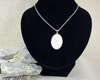 White Druzy Necklace - Druzy - Druzy Necklace - Oval Necklace - Bridesmaid Gift - Jewelry - Druzy Pendant - Necklaces - White - Oval - Drusy