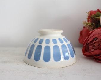 Vintage French Blue & White Cafe Au Lait Bowl - Digoin Sarreguemines - Kitchen Decor - Breakfast Bowl