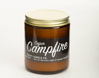 100% Soy Wax Candle — Cajun Campfire 7oz