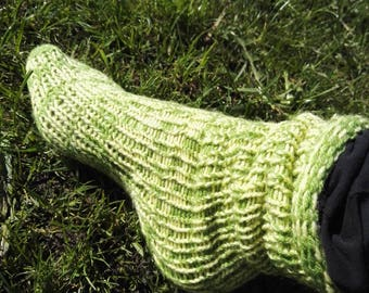 Custom Hand Knitted Socks Tube ankle / tall knee high / boot / bed / lounge / Diabetic / UNISEX size fits all #socks #knitwear #snowboarding