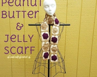 Peanut Butter & Jelly Scarf