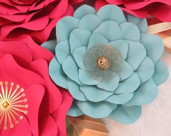 HARD COPY Template 5 Large Paper Flower