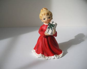 Vintage Napcoware Christmas girl with gifts