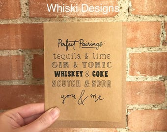 Perfect Pairings A2 Greeting Card