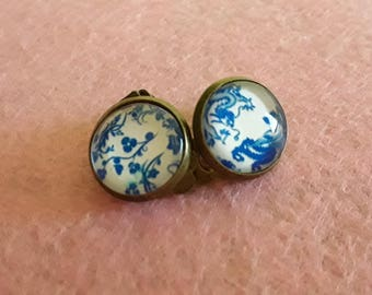 Cabochon 12 mm clip on earrings