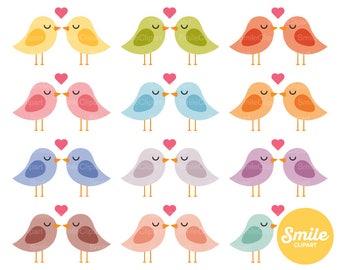 Lovebirds Clipart Illustration for Commercial Use | 0301