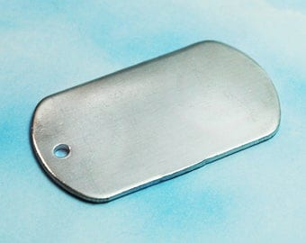 "Fifty Aluminum Dog Tag Keychain Blanks - 1"" x 2"" - 14g, 1100 Food Safe Aluminum"