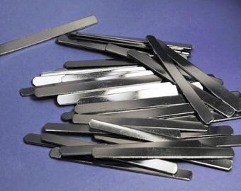 """One Hundred! 1100 1/4"""" x 3""""  18g Aluminum Wraparound Ring Blanks"""