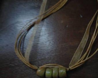 Mokume gane beaded necklace