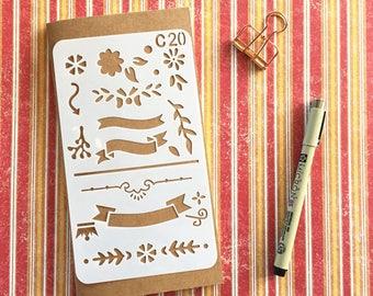 Bullet Journal Stencil #C20 - Planner, Journal, Craft, Scrapbooking, Decoration