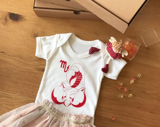 Scorpio Zodiac - Organic Baby Bodysuit