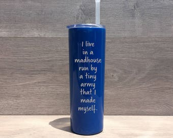 Powder Coated HOGG 20 oz. Skinny Tumbler - Customized Stainless Steel Skinny Tumbler - Laser Engraved Tumbler - Custom Gifts