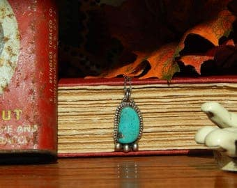 SALE ** Autumn Cloud Collection- Campitos Turquoise Sterling Silver Necklace