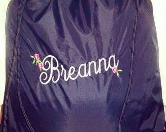 Personalized Name Drawstring Nylon Bag