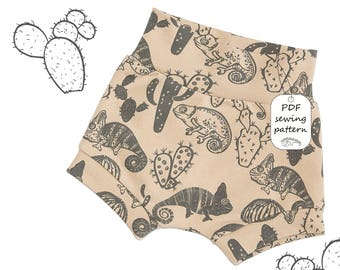 Baby shorts pattern PDF, kids shorts pattern PDF, sewing patterns, sewing patterns baby