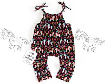 Romper pattern PDF, baby romper pattern PDF, kids romper pattern PDF, sewing patterns