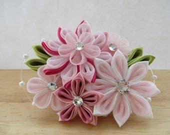 Hair Accessories- Hair Clips- Hair Piece- Kanzashi Flower- Kanzashi- Tsumami Kanzashi- Women's Hair Accessories- Wedding- Bridal