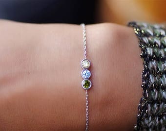 Birthstone Bracelet For Mom, Birthstone Bracelet, Bracelet For Mom, Mothers Bracelet, Family Bracelet, Family Birthstone Bracelet, Mom Gift