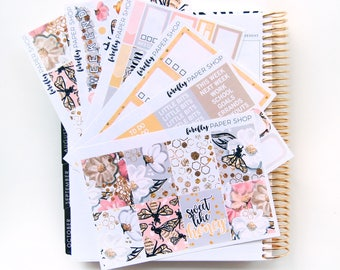 Honeycomb Weekly Kit (stickers for Erin Condren Life Planner - Vertical)