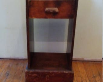 Vintage Night Stand, Wooden End Table