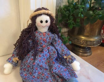 Lovely country house style ragdoll - handmade circa 1980s