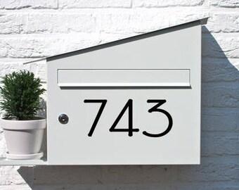 "3"" Address Number, Mailbox Numbers, Door Numbers, Address Plaque, House Numbers,  Modern numbers, Mailbox post numbers, Vinyl Numbers, AN104"