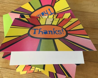 Thanks Sun Rays Boxed Note Cards